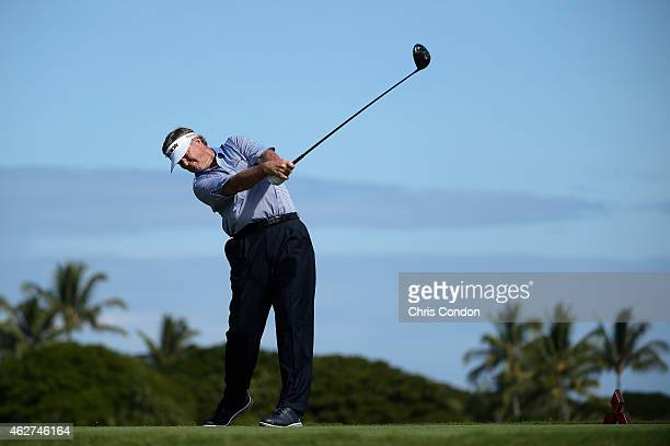 KA'UPULEHUKONA HI JANUARY 24 Peter Jacobsen tees off on the second hole during the second round of the Champions Tour Mitsubishi Electric...