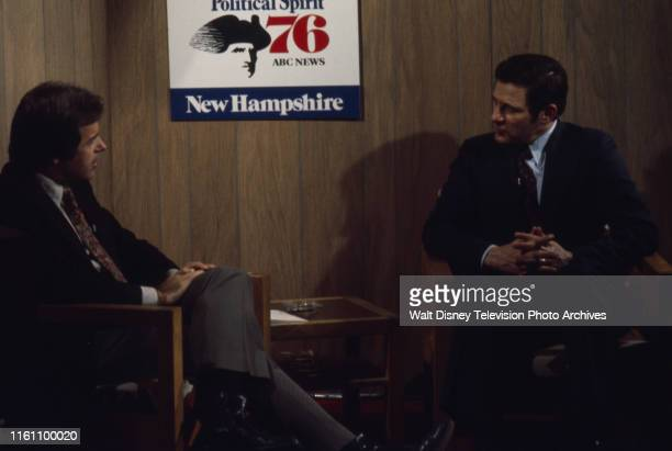 Peter Jennings interviewing Indiana Senator Birch Bayh ABC News coverage of the 1976 New Hampshire presidential primary