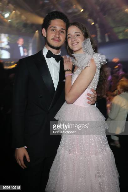 Peter John Koenig and Coco Koenig attend the amfAR Gala Cannes 2018 dinner at Hotel du CapEdenRoc on May 17 2018 in Cap d'Antibes France