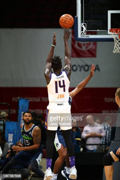 Peter Jok of the Northern Arizona Suns shoots a jumpshot against the Iowa Wolves in an NBA GLeague game on December 1 2018 at the Wells Fargo Arena...