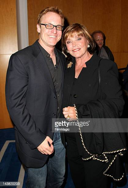 Peter Jones and Joanna Holland attend the Carson Documentary Premiere at The Paley Center for Media on May 3 2012 in Beverly Hills California