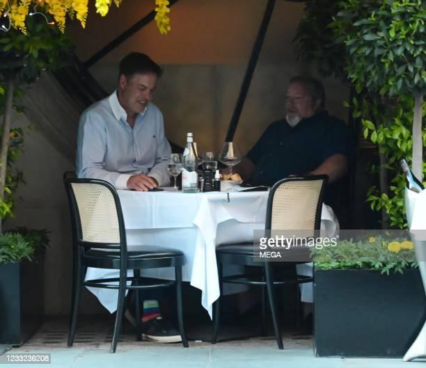 Peter Jones is seen dining at Scott's Restaurant on June 1, 2021 in London, England.