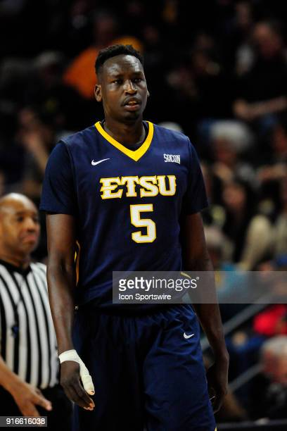 Peter Jurkin center East Tennessee State University Buccaneers waits for the game to resume against the Wofford College Terriers Saturday January 27...
