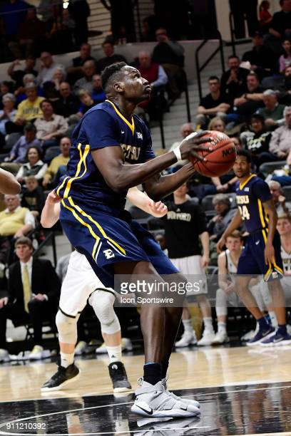 Peter Jurkin center East Tennessee State University Buccanneers stands in the cylinder to shoot for two against the Wofford College Terriers Saturday...