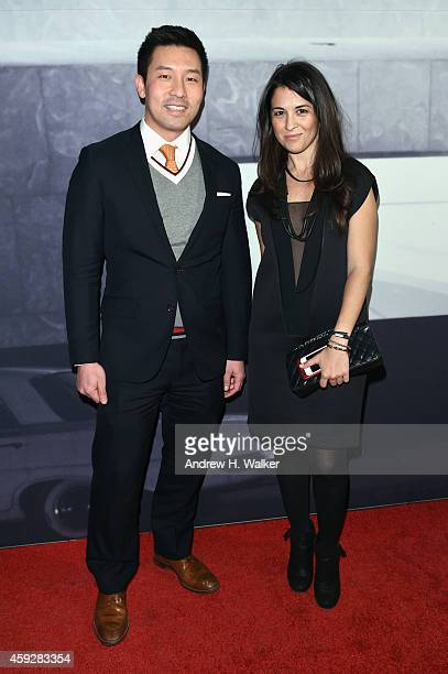 Peter Kahng and Corinna Freeman attend the 2014 Whitney Studio Party presented by Louis Vuitton at Breuer Building on November 19 2014 in New York...