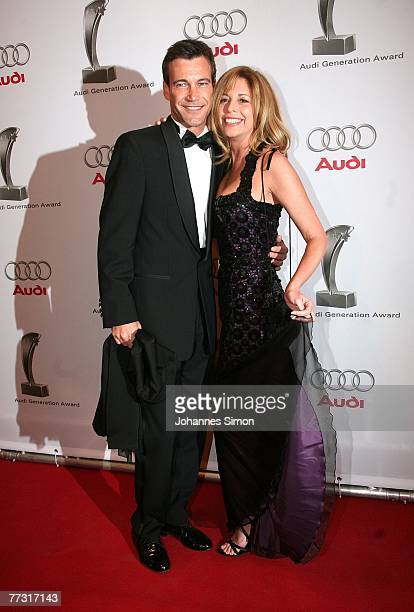 Peter Kanitz and actress Olivia Pascal attend the Audi Generation Award at Hotel Bayerischer Hof on October 13, 2007 in Munich, Germany.