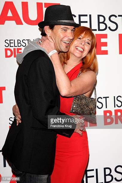 """Peter Kanitz And Friend Olivia Pascal at the Premiere Of Germany movie """"Even If The Bride"""" In Mathäser movie palace in Munich"""