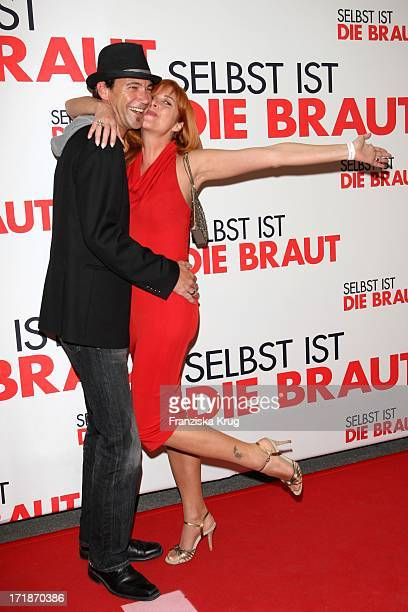 Peter Kanitz And Friend Olivia Pascal at the Premiere Of Germany movie Even If The Bride In Mathäser movie palace in Munich