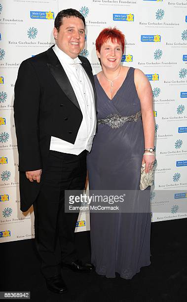 Peter Kay and Wife Susan Kay attend the forth annual fundraising gala dinner for the Raisa Gorbachev Foundation at Hampton Court Palace on June 6...