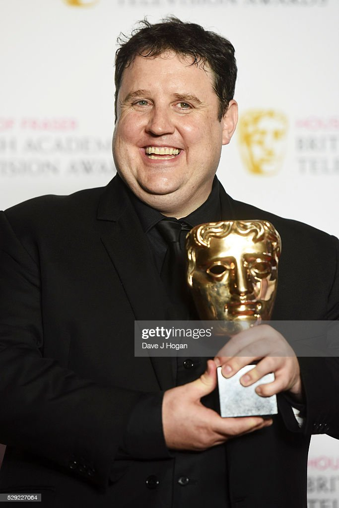 Peter Kay poses for a photo in the winners room during the House Of Fraser British Academy Television Awards 2016 at the Royal Festival Hall on May 8, 2016 in London, England.