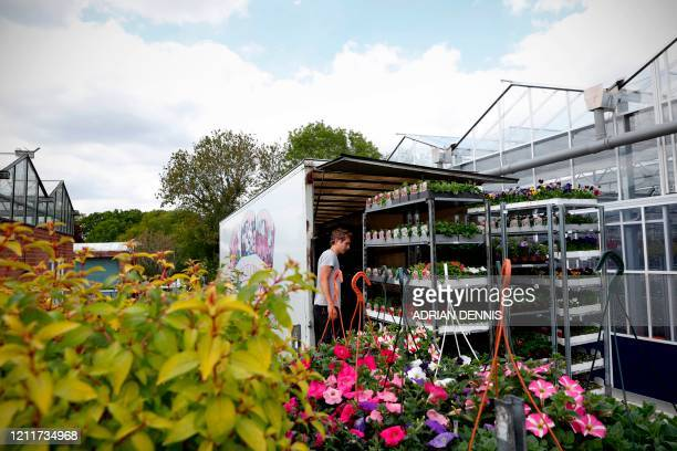 Peter Kemp, the youngest son of Nursery Owner Royden Kemp, loads a lorry with plants to be delivered to local gardeners at Sandiacre Nursery near...