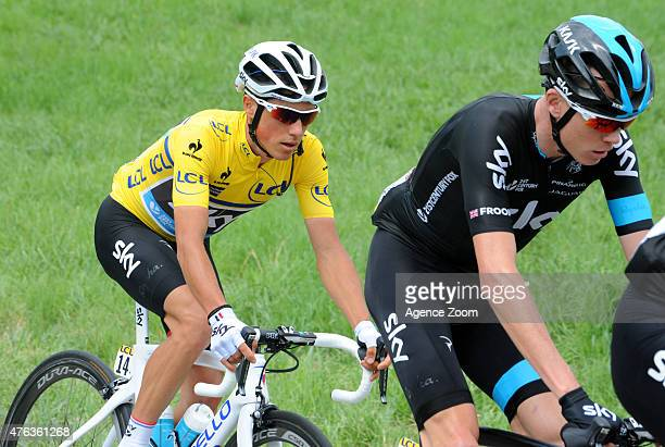 Peter Kennaugh of TEAM SKY during Stage Two of the Criterium du Dauphine on June 8 2015 in Le Bourget du Lac France