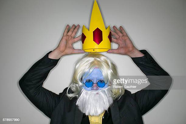 Peter Kenney is the Ice King from the television cartoon Adventure Time at Comic Con International 2016on July 21 in San Diego California