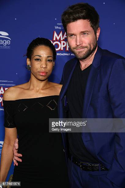 Peter Ketnath and Maykelis Ketnath attend the red carpet at the premiere of the Mary Poppins musical at Stage Apollo Theater on October 23 2016 in...