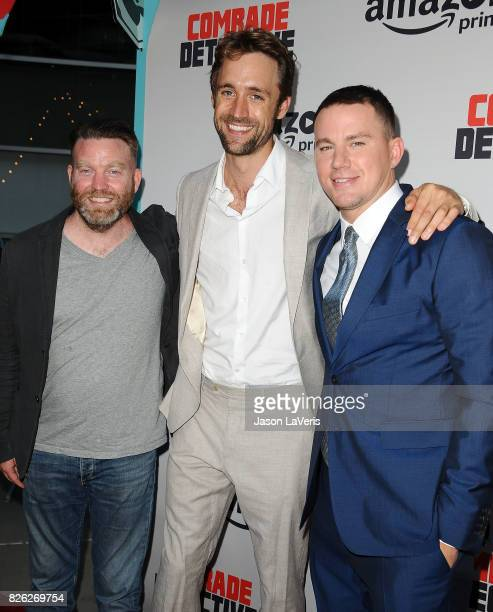 Peter Kiernan Reid Carolin and Channing Tatum attend the premiere of Comrade Detective at ArcLight Hollywood on August 3 2017 in Hollywood California