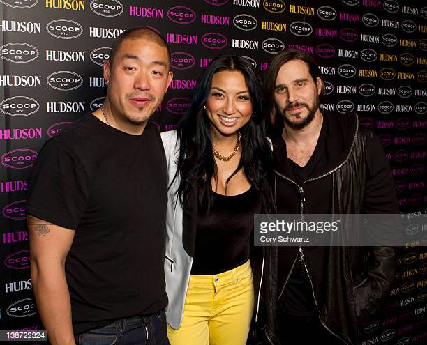 Peter Kim Jeannie Mai and Ben Taverniti attend A Phosphorescent Invasion by Hudson Jeans at Scoop NYC on February 10 2012 in New York City