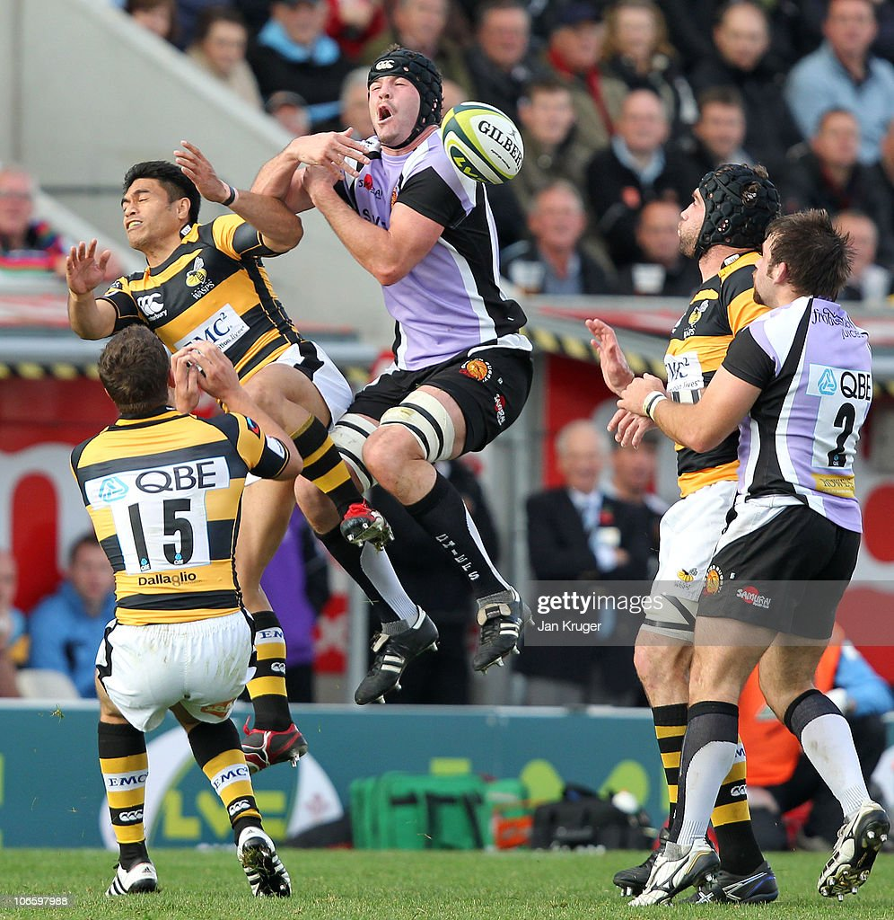 Exeter Chiefs v London Wasps - The LV Anglo Welsh Cup : News Photo