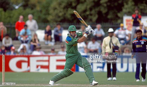 Peter Kirsten batting for South Africa during his 84 in the Benson and Hedges World Cup Zonal match between India and South Africa at Adelaide...