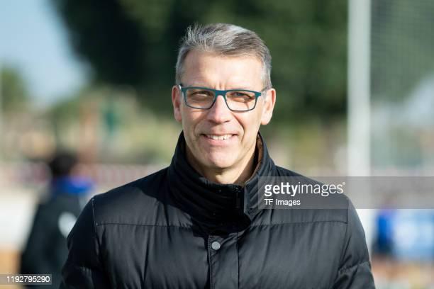 Peter Knaebel of FC Schalke 04 looks on during the FC Schalke 04 winter training camp on January 09, 2020 in Fuente Alamo near Murcia, Spain.