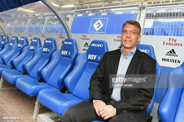 Peter Knäbel poses for a picture after he was announced as the new director of professional football for Hamburger SV at Imtech Arena on October 1,...