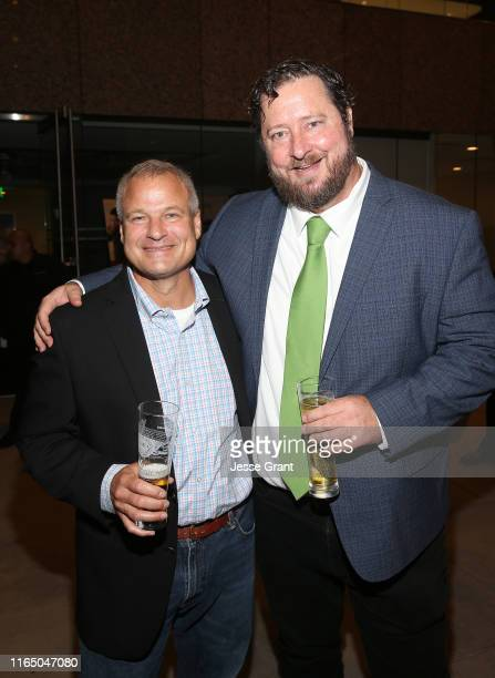 Peter Kraemer Chief Supply Officer AnheuserBusch InBev and writer/director Sean Mullin attend the World Premiere of KINGS OF BEER Presented By...