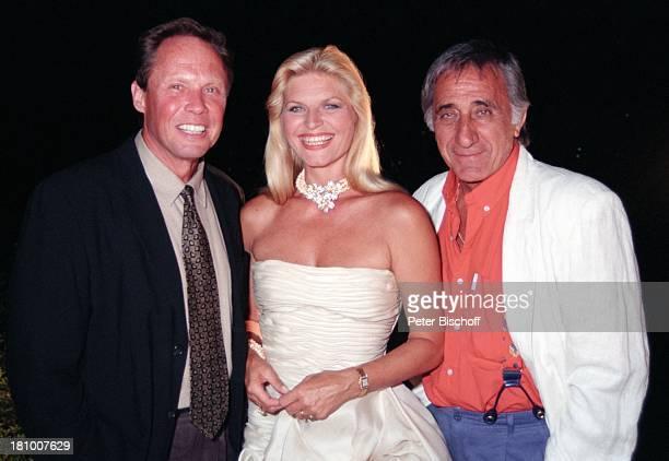 Peter Kraus Marlene Charell Ehemann Roger Pappini Lugano/Schweiz Abendkleid Schmuck Halskette Schauspieler Sänger Schauspielerin Promis Prominente...