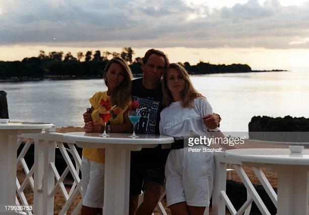 Peter Kraus mit Ehefrau Ingrid und Tochter;Gabriele, Mauritius, Urlaub, Sänger,