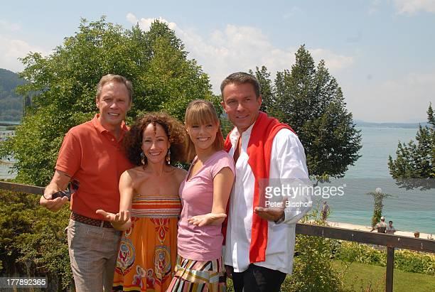 """Peter Kraus, Sandra Pieres, Francine Jordi, Alfons Haider , Star-Treff vor ORF-Musikshow """"Starnacht am Wörthersee"""", """"Promirace"""" - Tretbootrennen,..."""