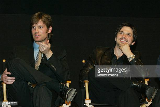 Peter Krause and Freddy Rodriguez during THE ACADEMY OF TELEVISION ARTS PRESENTS BEHIND THE SCENES OF 'SIX FEET UNDER' at Leonard H Goldenson Theatre...