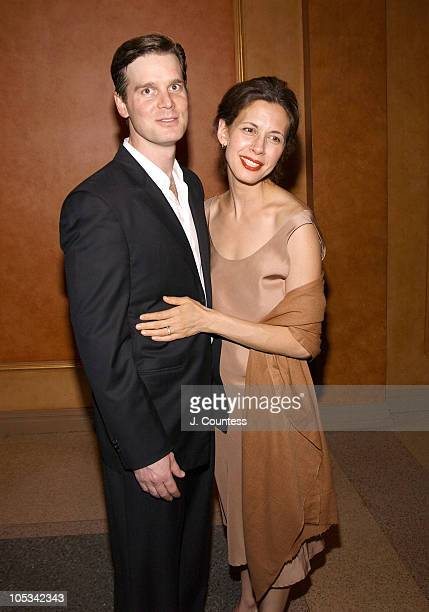 Peter Krause and Jessica Hecht during 'After The Fall' Opening Night Afterparty at American Airlines Theatre in New York New York United States