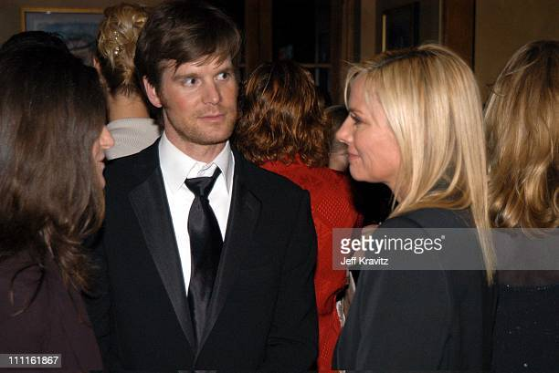 Peter Krause and Kim Cattrall during HBO Screen Actors Guild Party at Spago in Beverly Hills CA United States