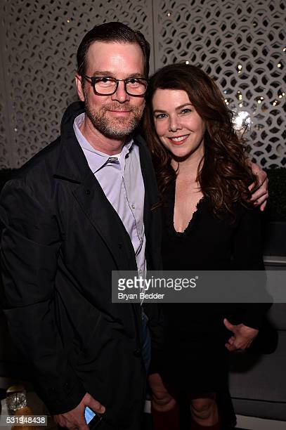 Peter Krause and Lauren Graham attend the 2016 CAA Upfronts Celebration Party on May 16 2016 in New York City