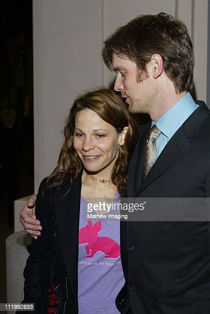 Peter Krause and Lili Taylor during THE ACADEMY OF TELEVISION ARTS PRESENTS BEHIND THE SCENES OF 'SIX FEET UNDER' at Leonard H Goldenson Theatre in...
