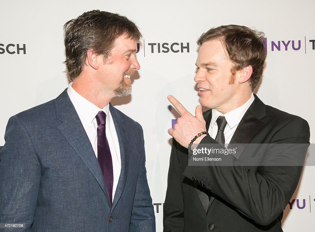 Peter Krause and Michael C. Hall attend NYU Tisch School of the Arts 2015 Gala at Frederick P. Rose Hall, Jazz at Lincoln Center on May 4, 2015 in New York City.