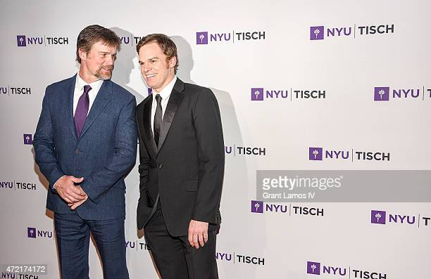 Peter Krause and Michael C Hall attend the NYU Tisch School Of The Arts 2015 Gal at Frederick P Rose Hall Jazz at Lincoln Center on May 4 2015 in New...