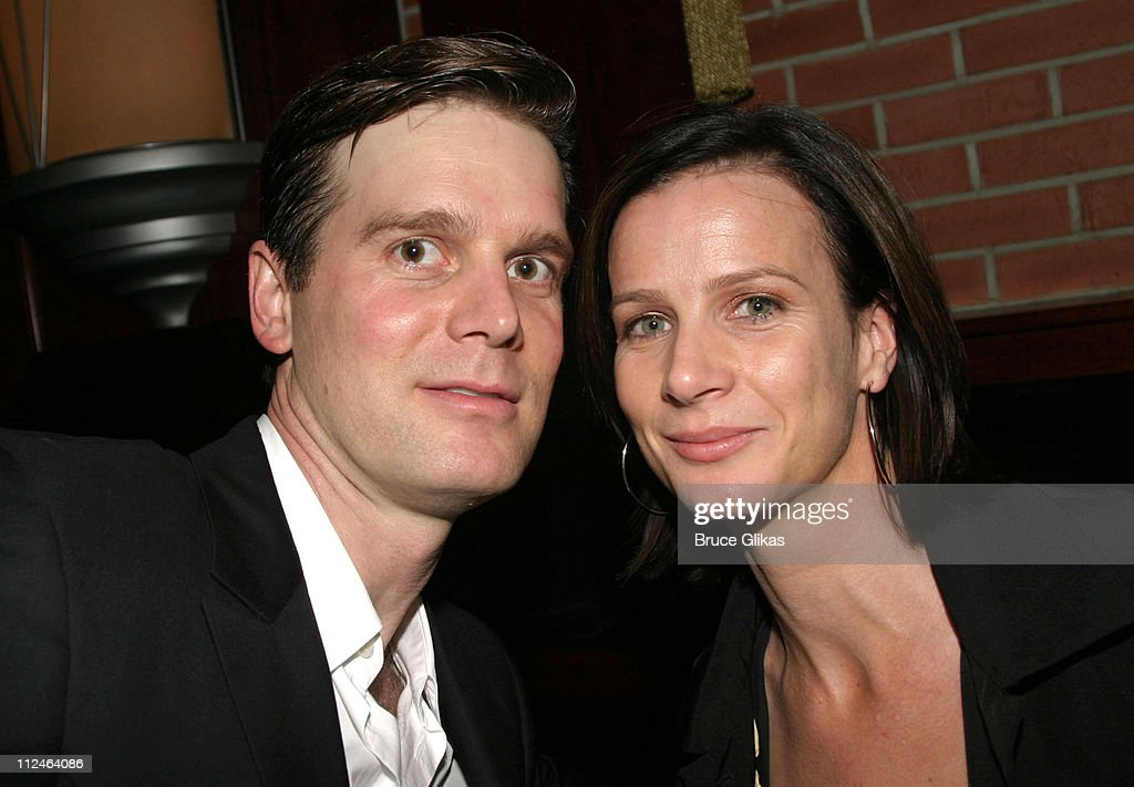 Peter Krause and Rachel Griffiths during 'After The Fall' Broadway Opening Night - After Party at B.B. Kings in New York City, New York, United States.