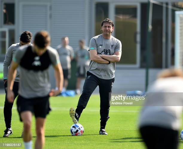 Peter Krawietz assistant manager of Liverpool during a training session at Qatar University prior the final of the Club World Cup on December 20 2019...