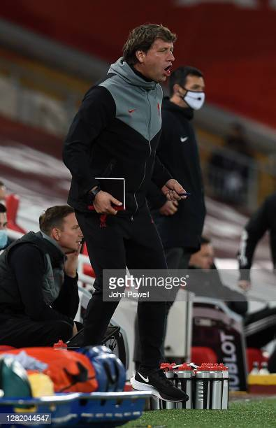 Peter Krawietz during the Premier League match between Liverpool and Sheffield United at Anfield on October 24, 2020 in Liverpool, England. Sporting...