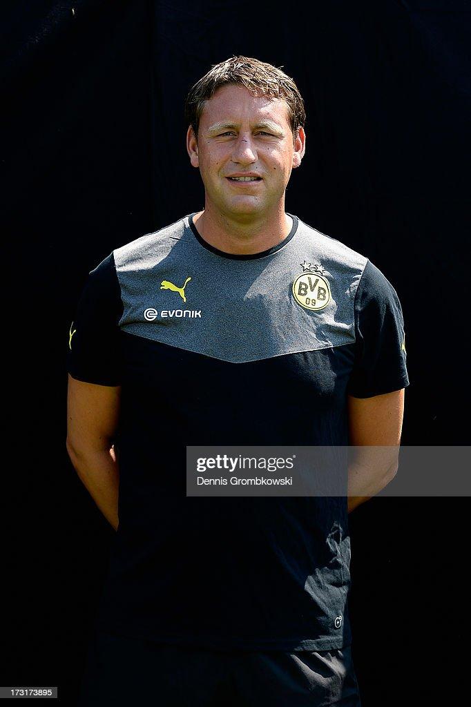 Peter Krawietz poses during the Borussia Dortmund Team Presentation at Brackel Training Ground on July 9, 2013 in Dortmund, Germany.