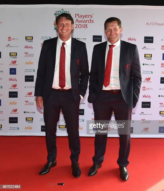 Peter KrawietzJohn Achterberg during the Player Awards at Anfield on May 10 2018 in Liverpool England
