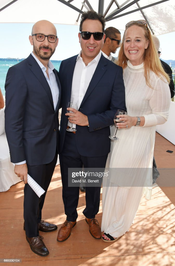 Peter Kujawski, Chairman of Focus Features, Jamie Schwartz and Beth Lemberger attends Focus Features' 15th Anniversary party at the Cannes Film Festival at Baoli Beach on May 19, 2017 in Cannes, France.