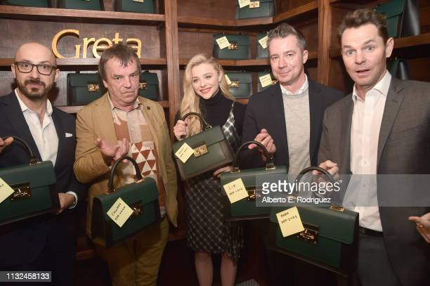 Peter Kujawski Neil Jordan Chloe Grace Moretz Robert Walak and Jason Cassidy attend the after party for the premiere of Focus Features' Greta at on...