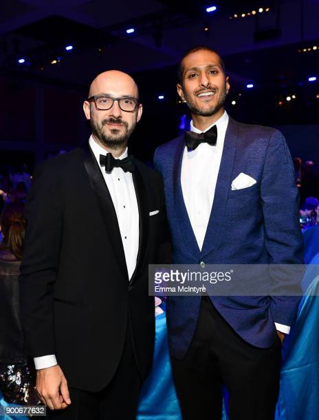 Peter Kujawski of Focus Features and Abhijay Prakash of DreamWorks attend the 29th Annual Palm Springs International Film Festival Awards Gala at...
