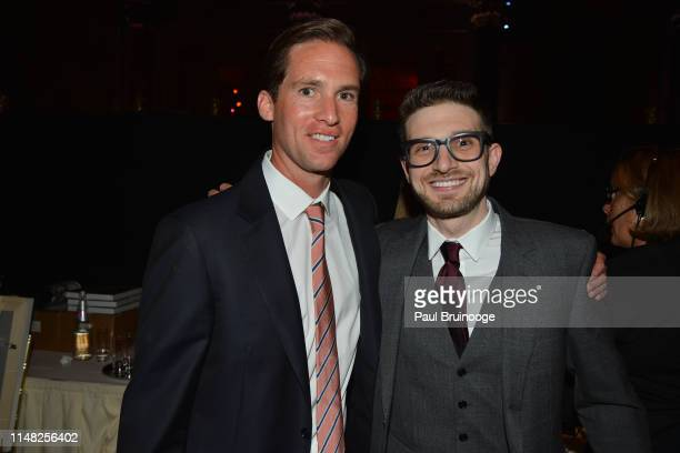 Peter Kunhardt Jr and Alex Soros attend The Gordon Parks Foundation Awards Dinner and Auction at Cipriani 42nd Street NYC on June 4 2019 in New York...