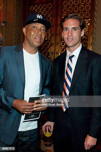 Peter Kunhardt Jr and Russel Simmons attend the Gordon Parks Foundation's Celebrating Spring fashion awards gala at Gotham Hall on June 2 2009 in New...