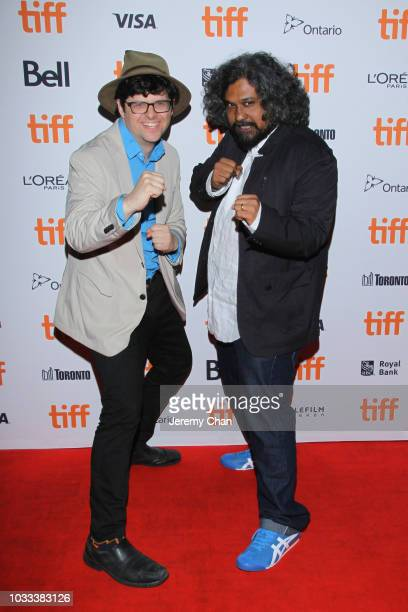 Peter Kuplowsky and Vasan Bala attends the 'The Man Who Feels No Pain' premiere during 2018 Toronto International Film Festival at Ryerson Theatre on...