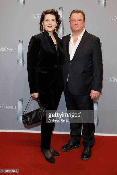 Peter Kurth and guest attend the German Television Award at Palladium on January 26 2018 in Cologne Germany