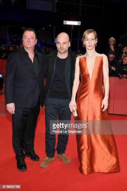 Peter Kurth Thomas Stuber and Sandra Hueller attend the Opening Ceremony 'Isle of Dogs' premiere during the 68th Berlinale International Film...