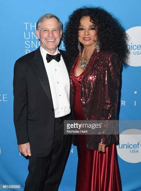 Peter Lamm and Diana Ross attend the 13th Annual UNICEF Snowflake Ball 2017 at Cipriani Wall Street on November 28 2017 in New York City