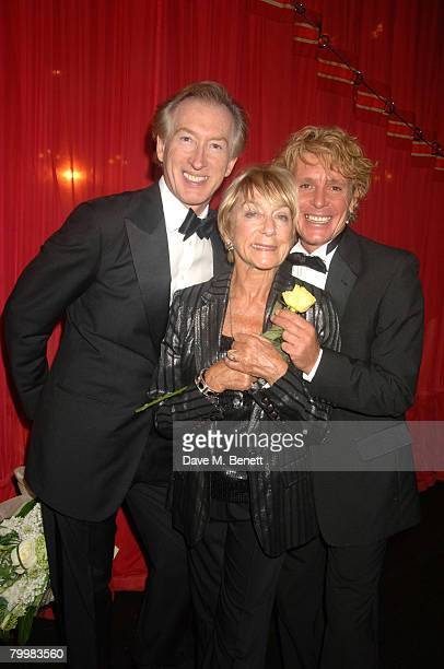 Peter Land Gillian Lynne and Jonathon Morris attend the 'I'd Like To Teach The World To Sing' Gala Tribute Concert to voice coach Ian Adam at the Her...